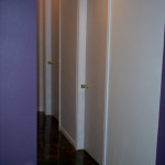 Ater pictures of completed work in Greenville Basement. Acid stained floors, White washed doors. Painted trim and walls.