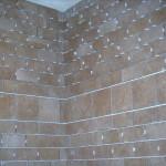 Tile shower in progress