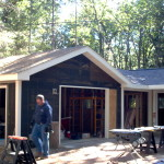 Garage project before siding.